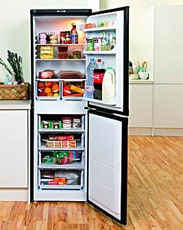 Indesit 55cm Fridge Freezer - Black