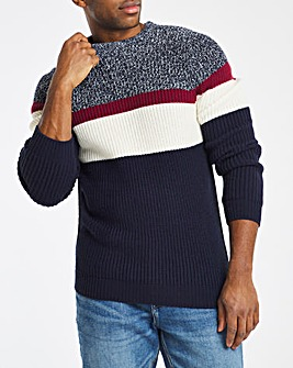 Navy Colourblock Jumper