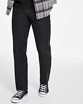 Blackwash Straight Fit Rigid Jeans