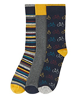3 Multi Pack Ankle Socks