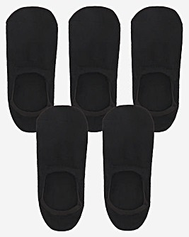 5 Pack Value Black Invisible Socks