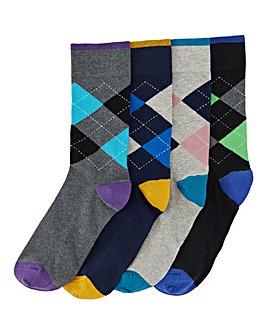 4 Pack Formal Ankle Socks