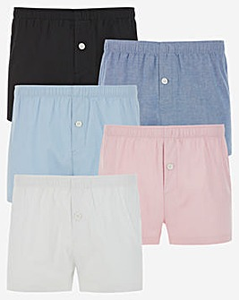 5 Pack Woven Boxers