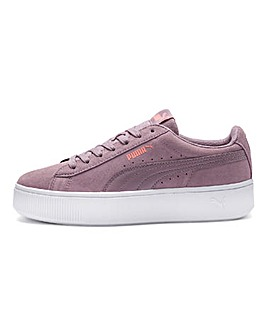 Puma Vikky Stacked Suede Trainers