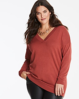 Henna V-Neck Tunic Jumper