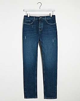 Indigo Wash Tapered Jeans
