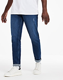 Indigo Wash Tapered Jeans