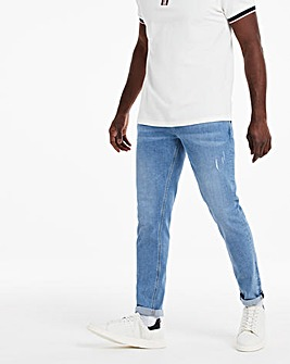 Stonewash Tapered Jeans