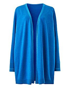 Denim Blue Supersoft Metallic Cardigan