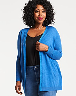 Denim Blue Supersoft Metallic Cardigan