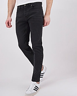 Blackwash Tapered Jeans