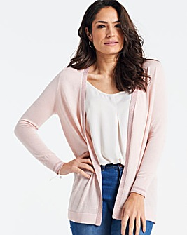 Blush Supersoft Metallic Trim Cardigan