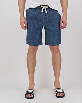 Stonewash Denim Elasticated Waistband Shorts