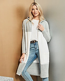 Boucle Hooded Cardigan