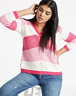 Pink Chevron Stripe Jumper