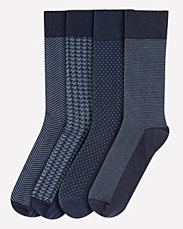 Pack of 4 Navy Formal Socks