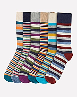 Pack of 6 Stripe Socks