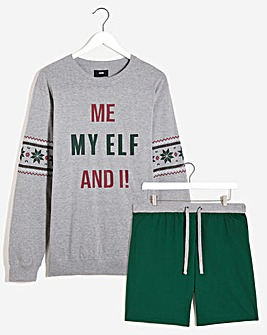 Me My Elf and I Pyjama Short Set