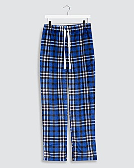 Blue Check Fleece Loungepants