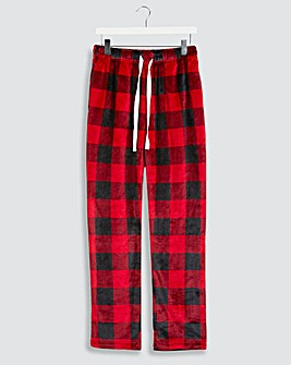 Navy/Red Check Fleece Loungepants