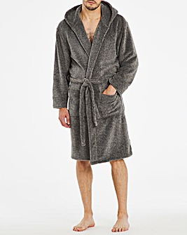 Grey Mix Fleece Dressing Gown