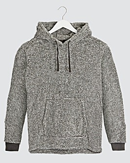 Grey Fleece Overhead Lounge Top