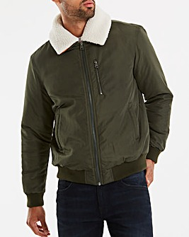 Khaki Aviator Jacket Long