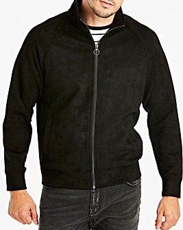Jacamo Black Suedette Jacket Long