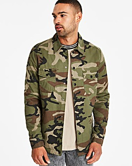 Jacamo Camo Padded Shacket Long