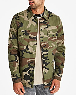 Jacamo Camo Padded Shacket Regular