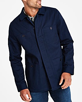 Navy Four Pocket Shacket L