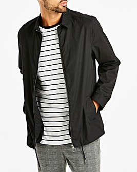 Black Lightweight Shacket Long