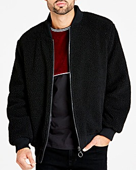 Jacamo Black Borg Lined Reversible Bomber Regular