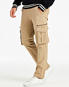 Sand Tapered Cargo Trouser 33in