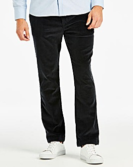 Jacamo Navy Stretch Cord Trousers 33in