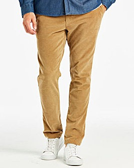 Jacamo Tan Stretch Cord Trousers 29in