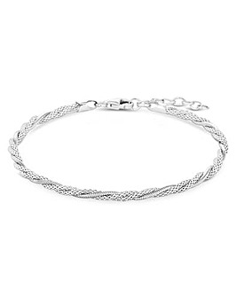 Simply Silver Sterling Silver 925 Mesh Twist Bracelet
