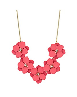 Mood Coral Flower Allway Necklace