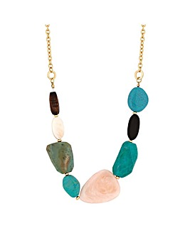 MoodTurquoise Beaded Allway Necklace