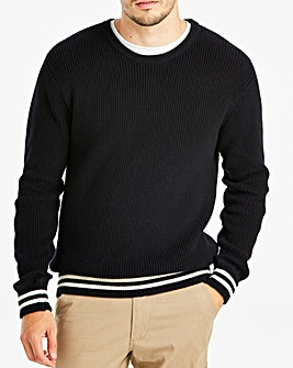 Jacamo Tipped Jumper Long
