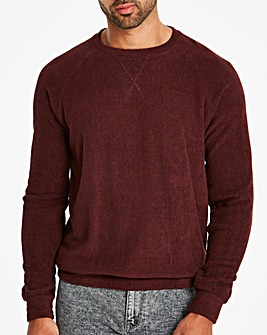Jacamo Terry Towelling Crew Sweat Regular