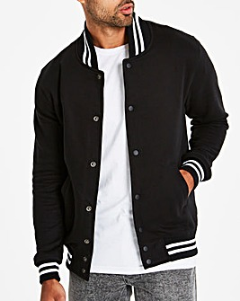 Jacamo Black Collegiate Bomber Long