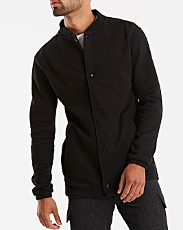 Jacamo Black Jersey Bomber Long