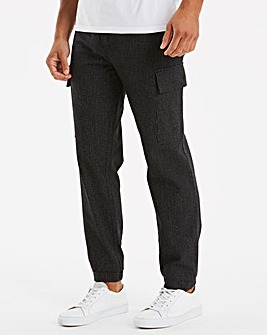 Jacamo Black Cargo Jogger 29in