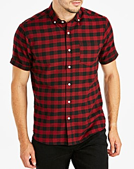 Jacamo Red Buffalo Check S/S Shirt Long