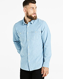 Jacamo Light Denim L/S Shirt Long