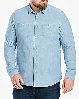 Chambray Long Sleeve Shirt Long