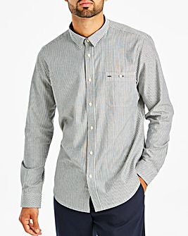 Jacamo Stripe Chambray Shirt Long