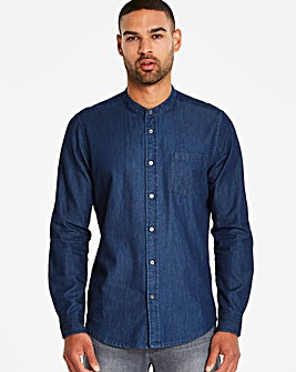 Jacamo Grandad Denim Shirt Regular