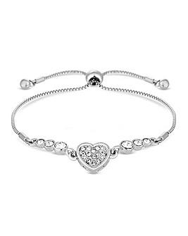 Jon Richard Silver Heart Toggle Bracelet
